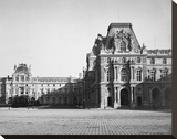 Paris, 1859 - Mollien Pavilion, the Louvre Stretched Canvas Print by Gustave Le Gray