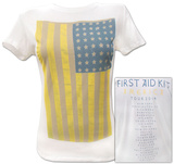 Juniors: First Aid Kit- 2014 America Tour (Front/Back) T-Shirt