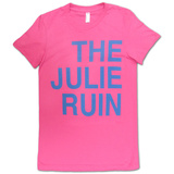 Juniors: The Julie Ruin- Blue on Pink T-shirts