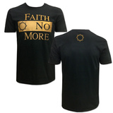 Faith No More- Gold Block Logo (Front/Back) T-shirts