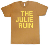 The Julie Ruin- Yellow on Green T-Shirt