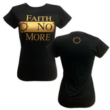 Juniors: Faith No More- Gold Block Logo (Front/Back) T-shirts