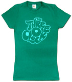 Juniors: The Three O'Clock- Green Logo T-Shirt