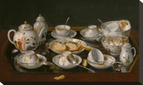 Still Life: Tea Set Stretched Canvas Print by Jean-Etienne Liotard