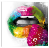 Fruity Kiss II Stretched Canvas Print by Patrice Murciano