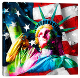 Liberty Stretched Canvas Print by Patrice Murciano