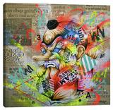 Tengu Stretched Canvas Print by Taka Sudo