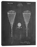 Lacrosse Stick Stretched Canvas Print by Cole Borders