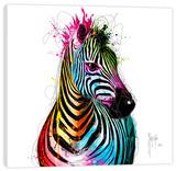 Zebra Pop Stretched Canvas Print by Patrice Murciano