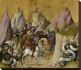 The Meeting of the Three Kings, with David and Isaiah (recto); The Assumption of the Virgin (verso) Stretched Canvas Print by  Master of the St. Bartholomew Altarpiece