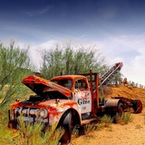 Abandoned Pickup Truck in America Photographic Print by Salvatore Elia