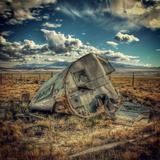 Abandoned Decaying Caravan Fotografisk trykk av Florian Raymann