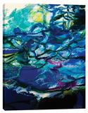 Moon Tide Stretched Canvas Print by Barbara Biolotta