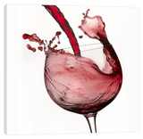 Red Wine Pour 2 Stretched Canvas Print by Barry Seidman