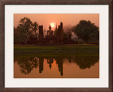 Wat Mahathat, Sukhothai Historical Park, UNESCO World Heritage Site, Sukhothai Province, Thailand, Framed Photographic Print by Ben Pipe