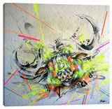 Confront Stretched Canvas Print by Taka Sudo