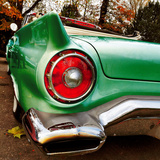 Green Classic American Car Rear Fender Photographic Print by Salvatore Elia