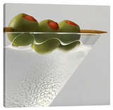 Three Olives Stretched Canvas Print by Barry Seidman