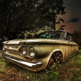 Abandoned Old Car in USA Photographic Print
