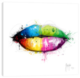 Candy Mouth Stretched Canvas Print by Patrice Murciano