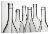 Empty Bottles Stretched Canvas Print by Barry Seidman
