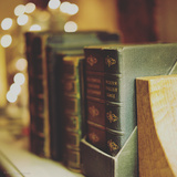 Dusty Books Photographic Print by Tim Kahane