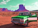 Desert Scene with Classic Truck in America Photographic Print by Salvatore Elia