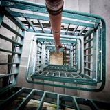 Internal Stairwell in Modern Building Fotografisk tryk af Craig Roberts