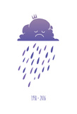 Sad Purple Rain Cloud Poster