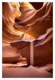Sand pours through Antelope Canyon Poster by Nick Jackson