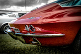 Classic American Muscle Car in Red Photographic Print by David Challinor