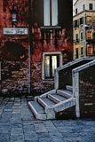 Stone Steps, Twilight Glow, Venice, Italy Photographic Print by Steven Boone