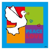 Peace and Love Prints by  Yaro