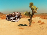 Edited Image of Classic Car in Amrican Desert Photographic Print by Salvatore Elia