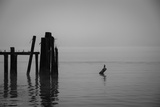 Tranquil Sea View with Wooden Jetty Photographic Print by Sharon Wish