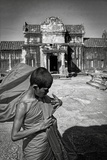 A Young Monk at Angkor Wat, Cambodia Photographic Print by Steven Boone