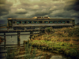 Train on Bridge Photographic Print by Florian Raymann