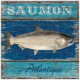 Saumon Posters by Bruno Pozzo