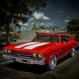 Textured Image of Classic Car in America Photographic Print by Salvatore Elia