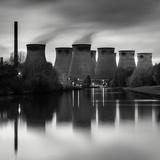 Cooling Tower at Power Station Fotografisk tryk af Craig Roberts