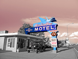 Vintage Neon Motel Sign in America Photographic Print by Salvatore Elia