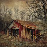 Retro Americana Farm Building Fotografisk trykk av Salvatore Elia