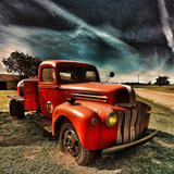 Retro Americana Red Truck Photographic Print by Salvatore Elia