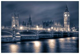 Night time at the Houses of Parliament Prints by Nick Jackson