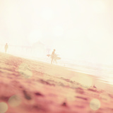 Beach Scene with Surfer in USA Photographic Print by Myan Soffia