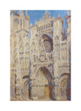 Rouen Cathedral. The portal and the Tour Saint-Romain, Full Sun, 1893 Premium Giclee Print by Claude Monet