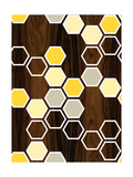 Hex Yellow Giclee Print by  jefdesigns