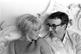 Peter Sellers and Wife Britt Ekland, at Home after Peter's Heart Attack, May 1964.. Fotografisk tryk af Curt Gunther