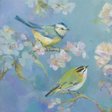 Birds in Blossom - Detail I Prints by Sarah Simpson