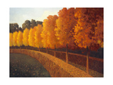 Linden Trees in Autumn Giclee Print by Max Hayslette